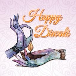 Elegant Diwali Wishes Stickers
