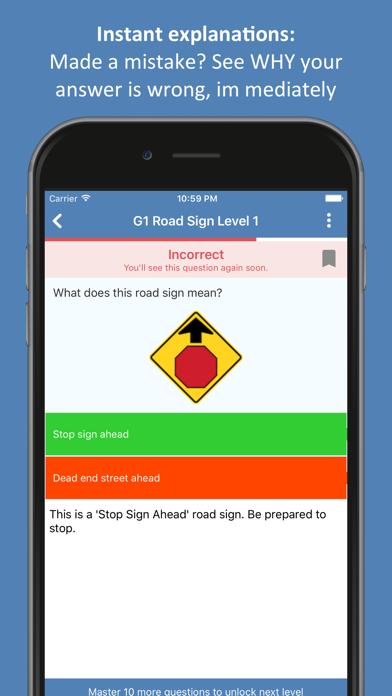 Ontario G1 Practice Test screenshot two