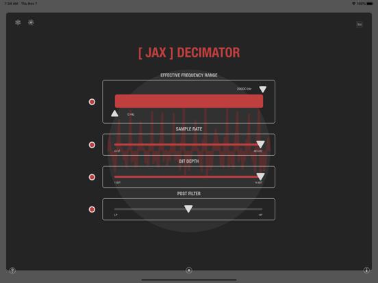 JAX Decimator (Audio Unit) screenshot 7