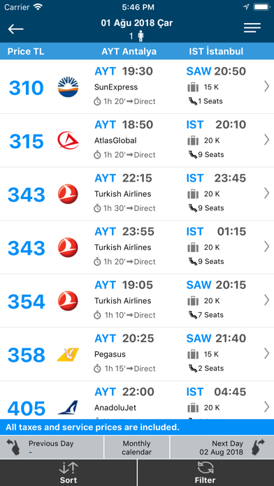 Screenshot for Aerobilet - Flights, Hotels in Australia App Store