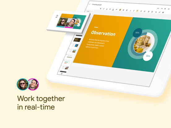 iPad Image of Google Slides
