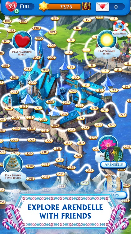 Disney Frozen Free Fall Game screenshot-3