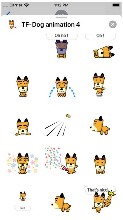 TF-Dog Animation 4 Stickers screenshot-3