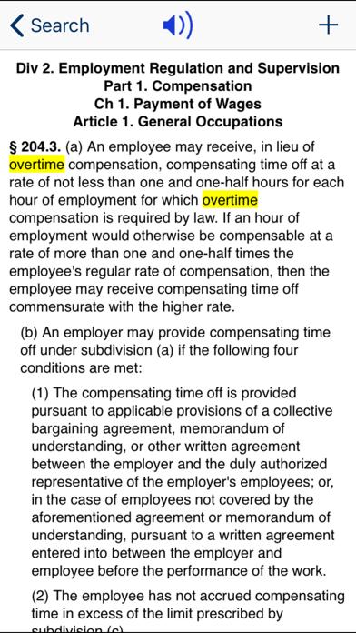 CA Labor Code 2020 screenshot three