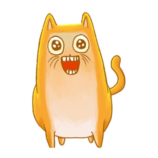 Startled Cat - Animated