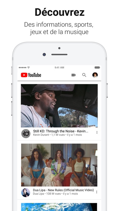 Screenshot for YouTube in France App Store