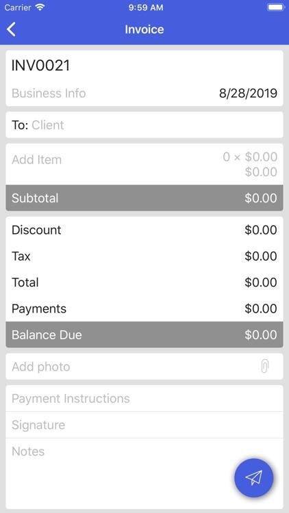 Invoice Simple Lite screenshot-4