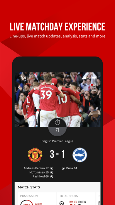 Screenshot for Manchester United Official App in United States App Store