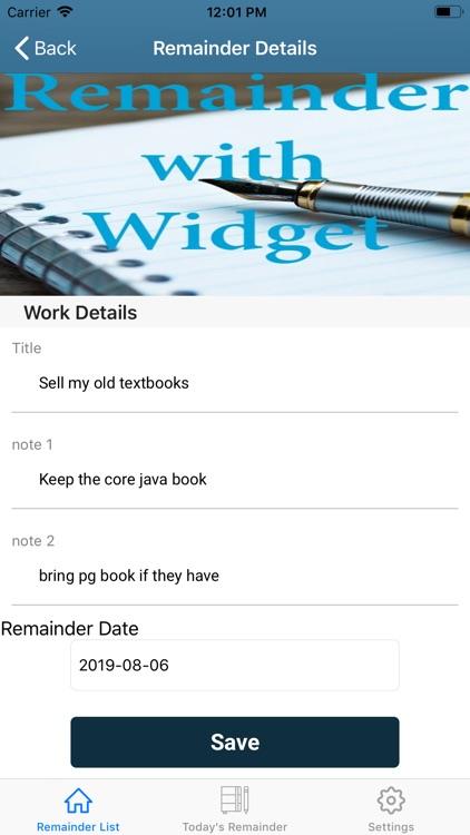 Remainder with Widget screenshot-5