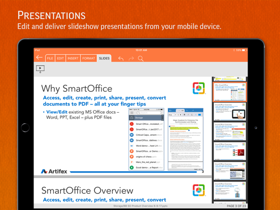 SmartOffice - Document Editing iPad app afbeelding 3