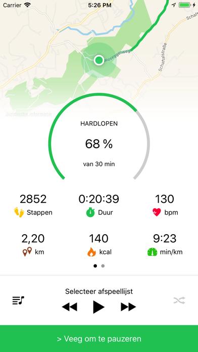 Hardloop Joggen Wandelen Goals iPhone app afbeelding 6