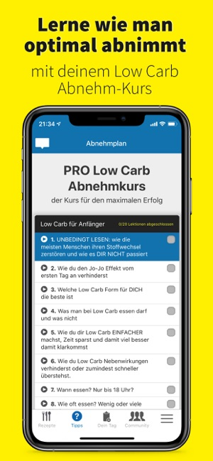 ‎Foodabi: Low Carb Diät-Rezepte Screenshot
