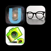 Unik Unicode Keyboard & Bifocal Reading Glasses & Photonu multicam