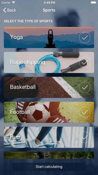 Sports Calorie Calculator screenshot #1