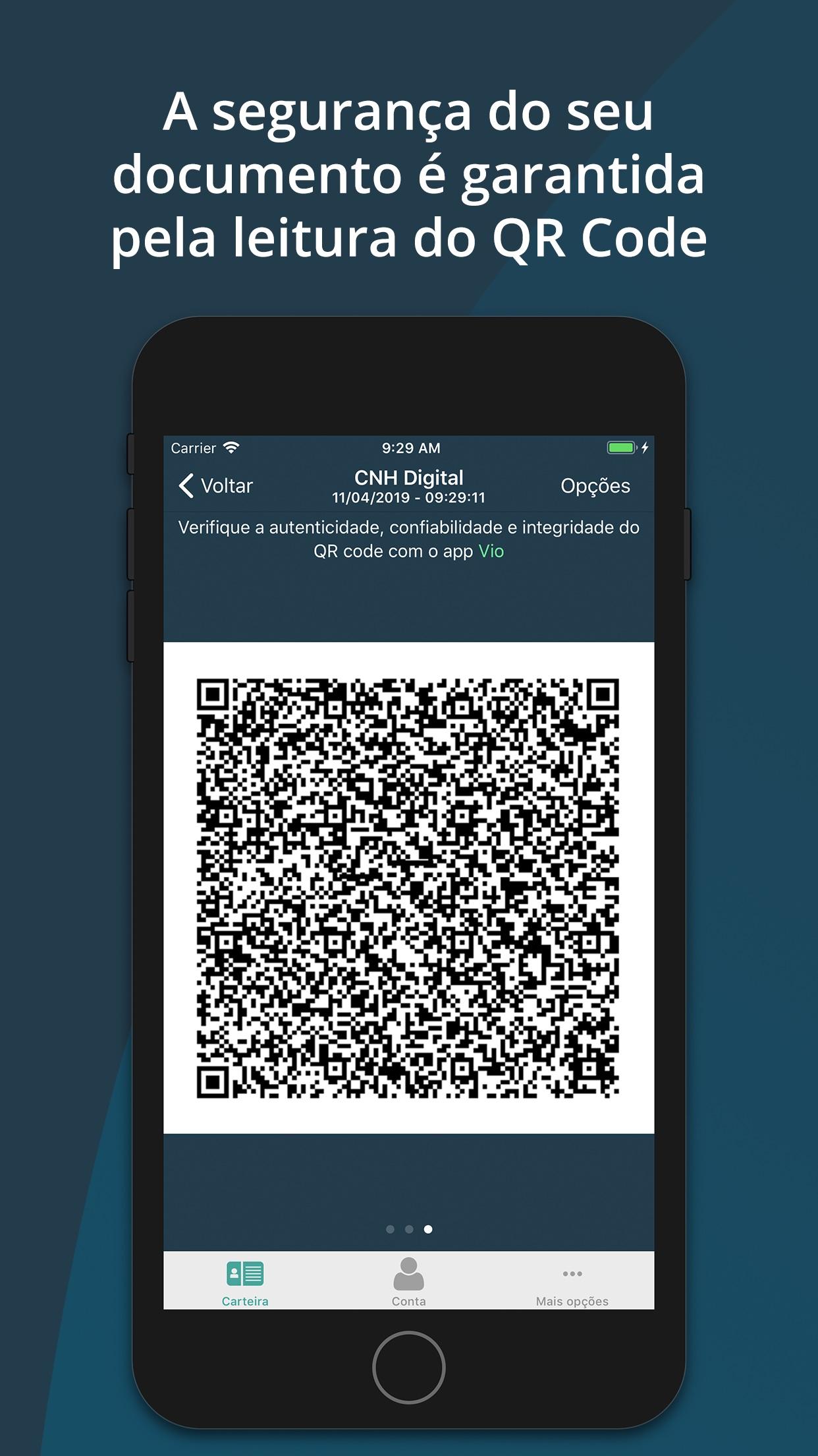 Screenshot do app Carteira Digital de Trânsito