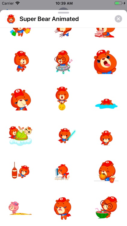 Super Bear: Animated Stickers screenshot-3