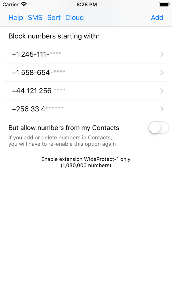 WideProtect Spam Call Blocker App for iPhone - Free Download