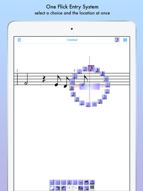 iWriteMusic for iPad screenshot two