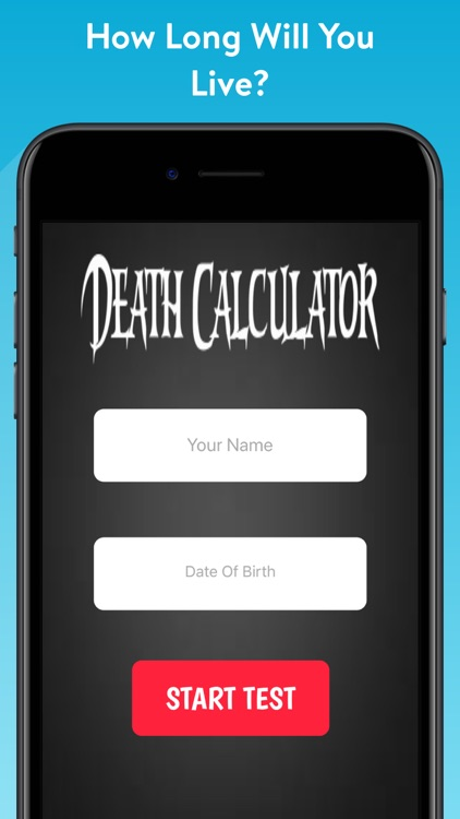 When Will I Die? - Calculator