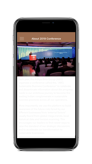 ABG Sustainable Conference App screenshot two