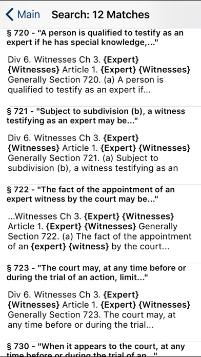 CA Evidence Code 2020 screenshot two