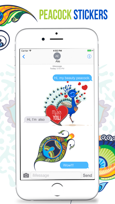 Peacock Stickers screenshot four