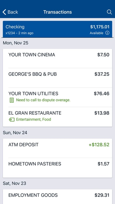 Screen Shot LAFCU Mobile 2