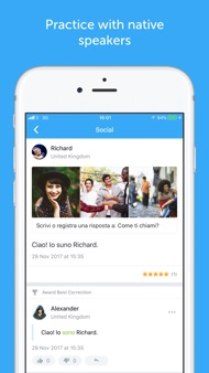 Busuu - Learn to speak Italian iphone images