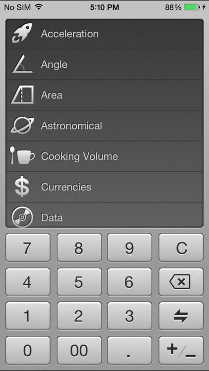 Converter: Units & Currencies.