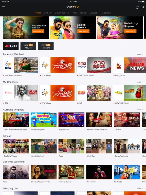 Screenshot #4 pour YuppTV - Live TV & Movies