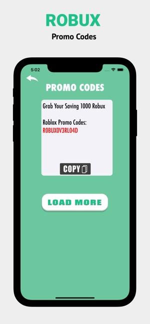 Roblox Tüm Promo Kodları Robux Promo Codes For Roblox On The App Store