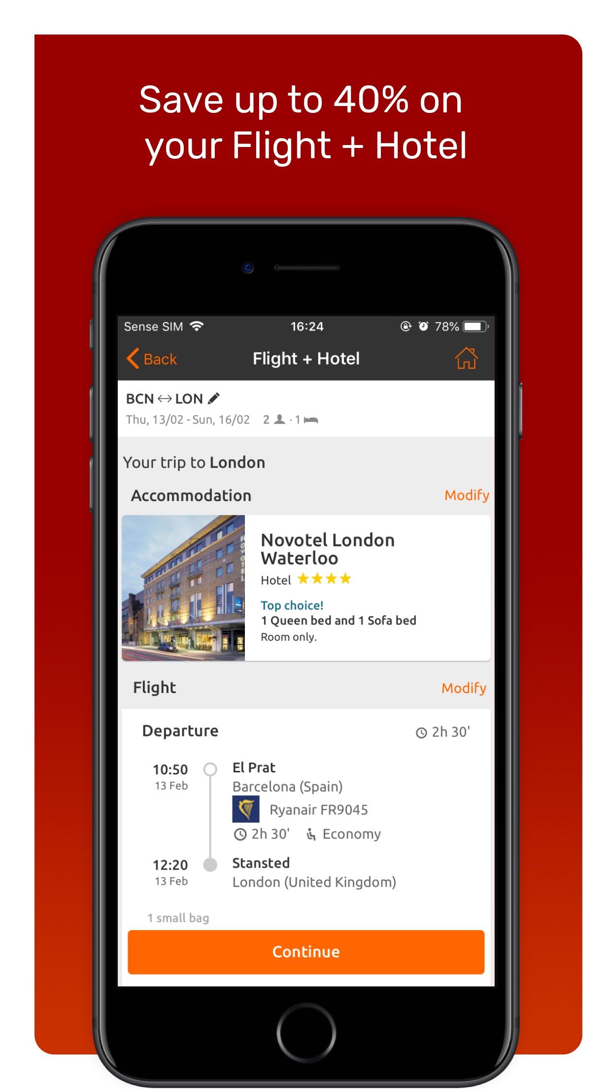 Opodo: Book cheap flights Screenshot
