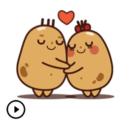 Cute Couple Potato Stickers