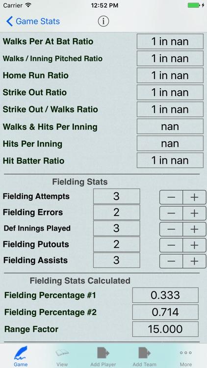 Baseball Player Stats Tracker screenshot-3
