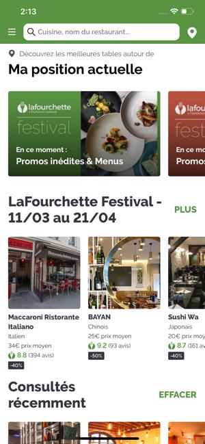 LaFourchette Restaurants Capture d'écran