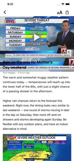 CBS 17 WX on the App Store