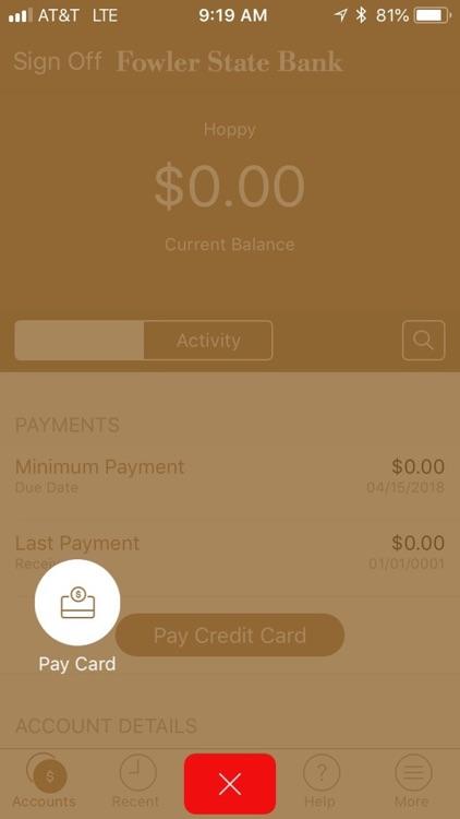 Fowler State Bank Credit Card screenshot-3
