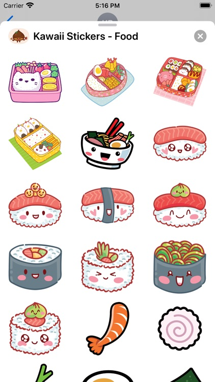 Kawaii Stickers - Food