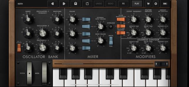Minimoog Model D Synthesizer Screenshot
