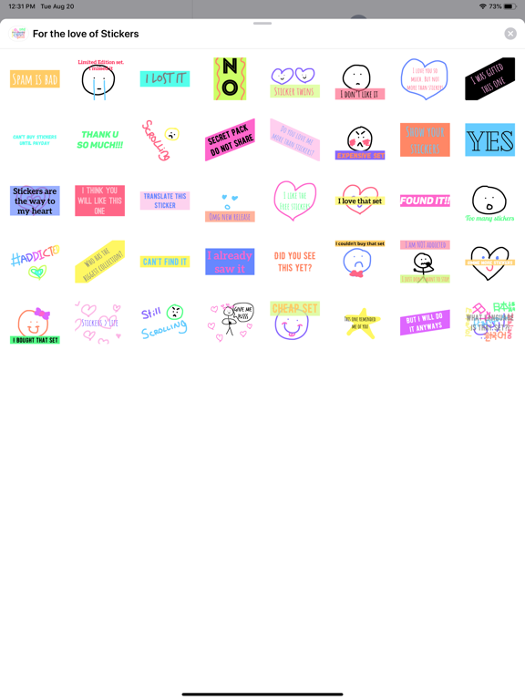 For the love of Stickers screenshot 4