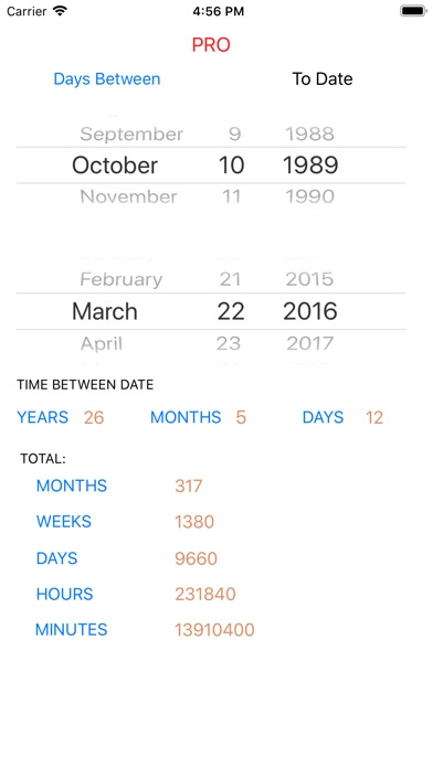 Date and Age Calculator Pro app image
