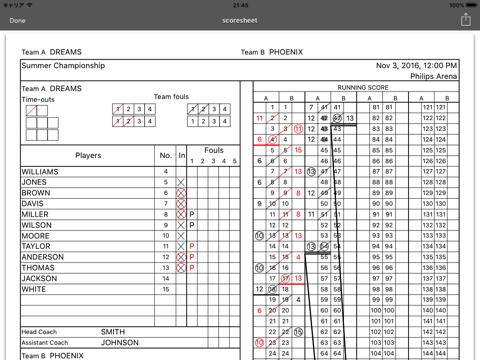 HOOP J for Basketball Scores - náhled