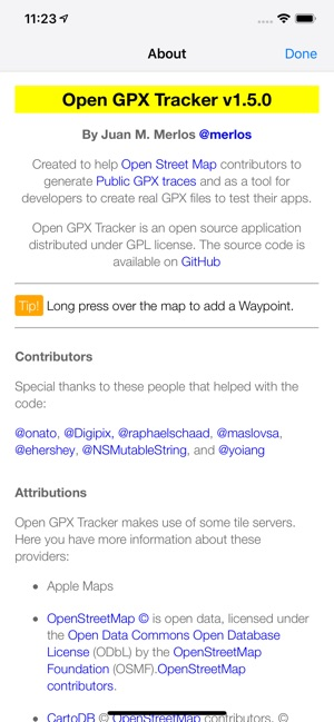 Open GPX Tracker on the App Store
