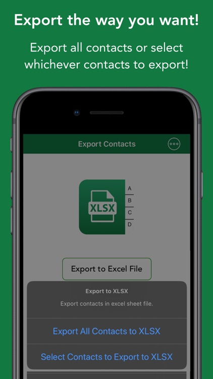 Contacts to XLSX