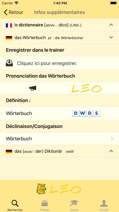 Screenshot #2 pour Dictionnaire LEO