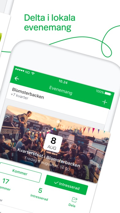 Screenshot for Nextdoor—Kvartersappen in Sweden App Store