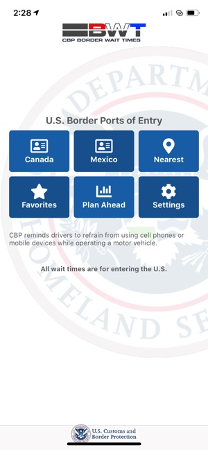 CBP Border Wait Times on the App Store