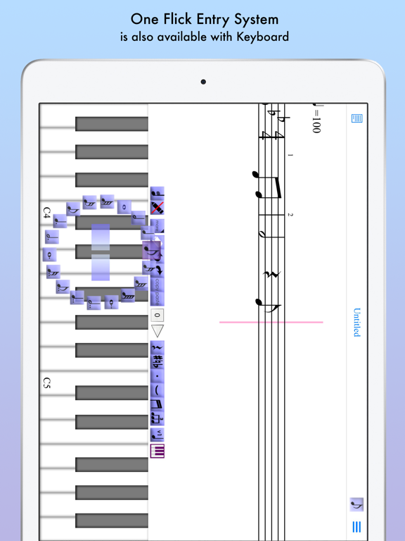 iWriteMusic for iPad screenshot three