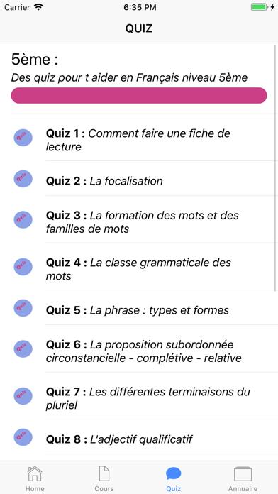 Français 5ème screenshot 4