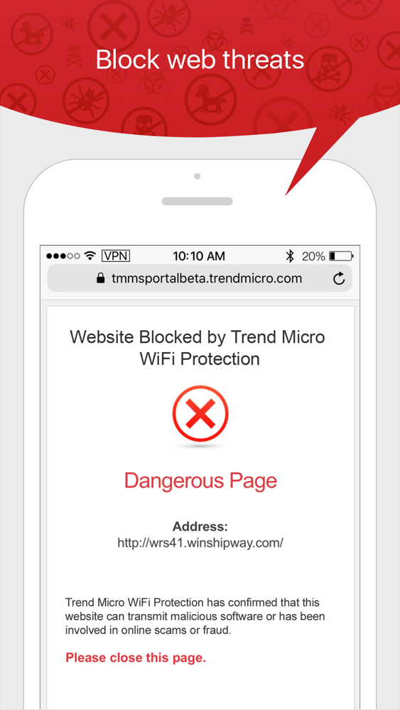 Trend Micro WiFi Protection App for iPhone - Free Download Trend